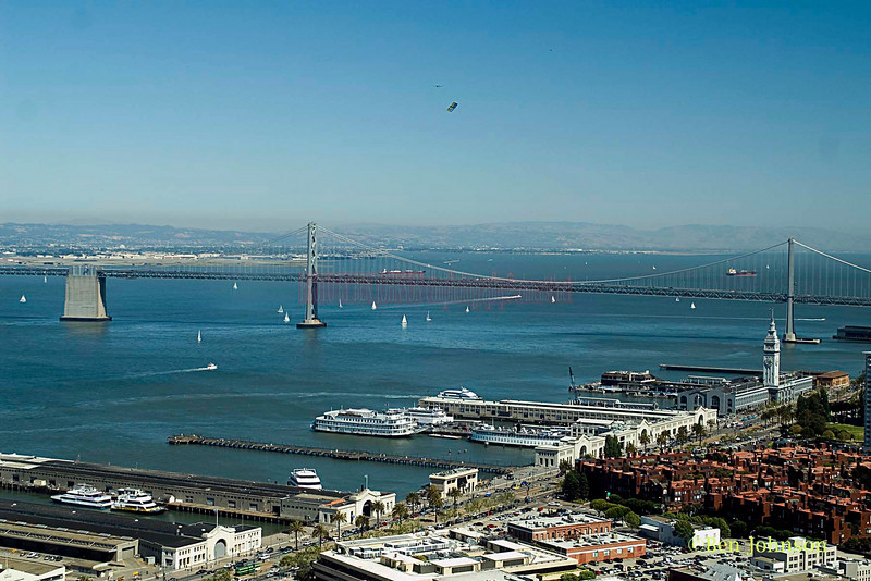 San Francisco Bay. Image taken from the top of The Hoyt Tower