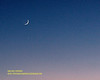 Conjunction Of The Crescent Moon Jupiter and Venus