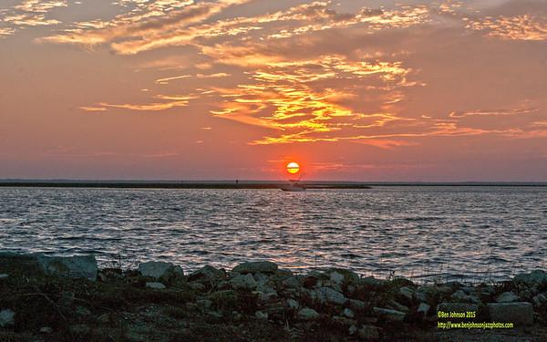 Sunset November 6, 2015 2 of 3 - English Creek New Jersey