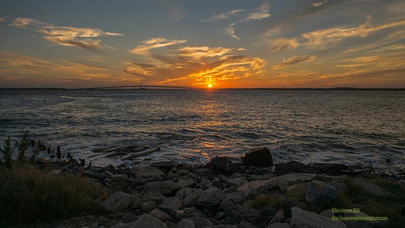 Sunset September 15 2016 Longport New Jersey