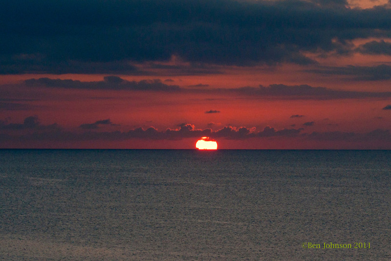 Sunset viewed from the  beach at The Grand Cayman Marriott Resort in 2011
