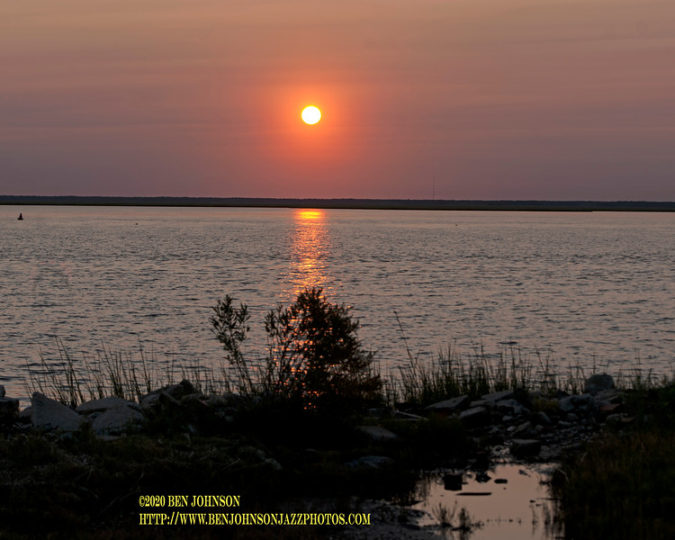 Sunset 9/22/20 Viewed In Egg Harbor Township, New Jersey With The Effects Of The Fires In California Filtering The Light.