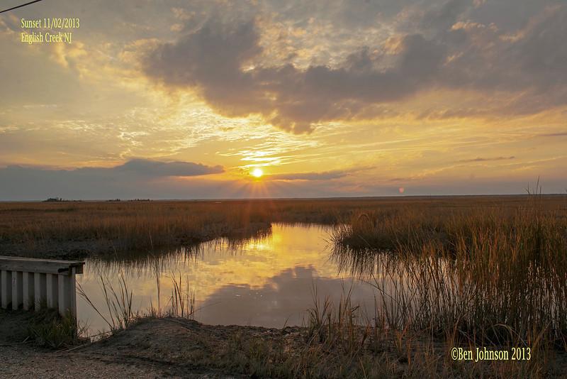 Sunset November 2, 2013 English Creek - English Creek New Jersey