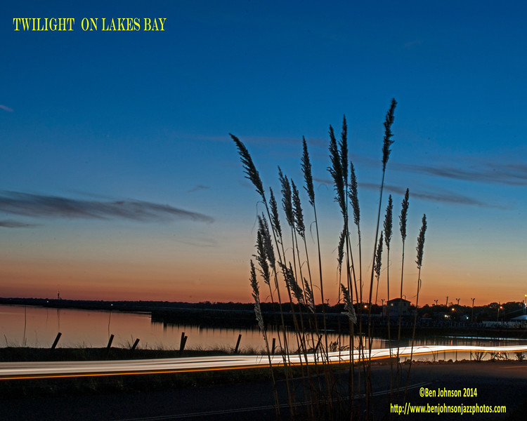 Twilight captured 40 minutes after sunset from Lakes Bay in Egg Harbor Township on October 27, 2014