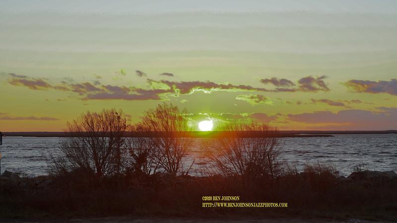Sunset Viewed Near Egg Harbor Township New Jersey January 16, 2020