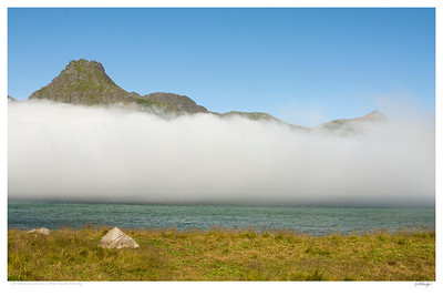 Low cloud in Lofoten Islands Norway