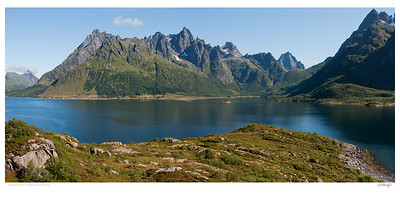 Austnesfjord in Lofoten Islands Norway