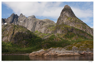 Near Trollsfjord Lofoten Islands Norway