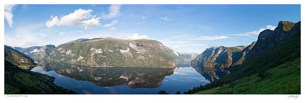 Aurlandsfjord - Sognefjord Morning light Norway