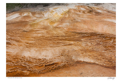 Mammoth Hot Springs up close, Yellowstone Park WY