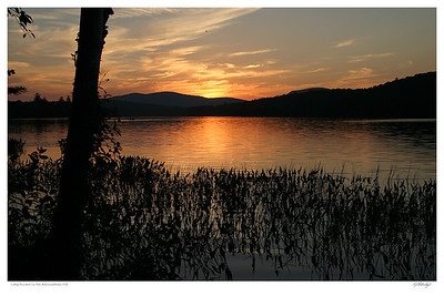 Sunset on Lake Durant, Adirondacks, NY