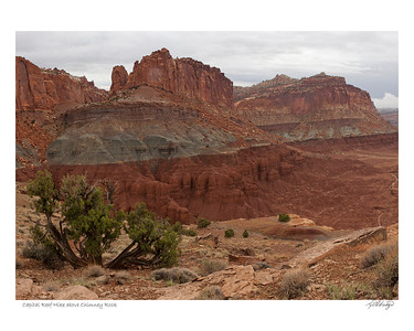 Capital Reef Hike above Chimney Rock Utah