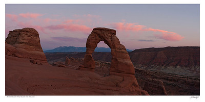 Sunset at Delicate Arch Utah