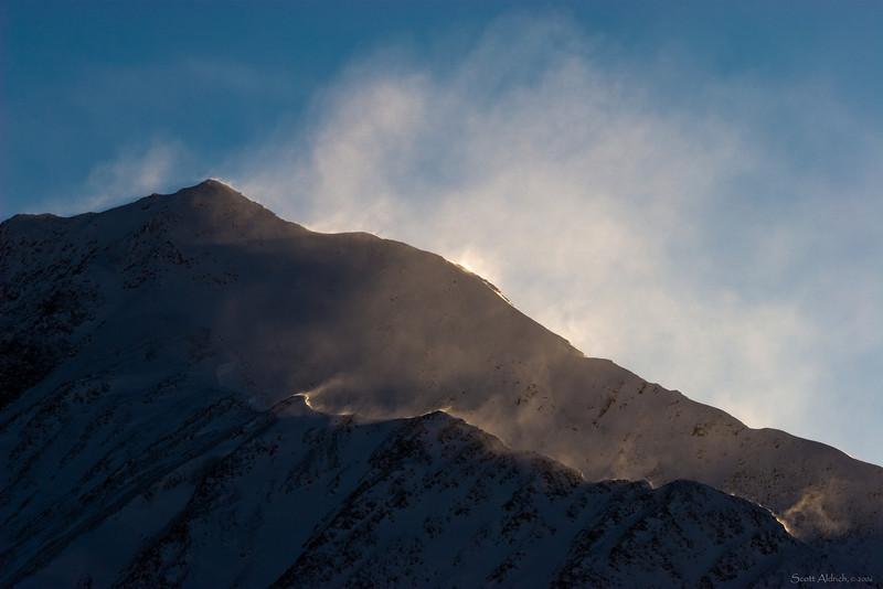 Chugach Mountains, Alaska ~ Windy.