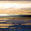 Sunrise on icy Turnagain Arm of Cook Inlet, Alaska