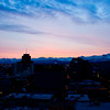 Winter dawn over Anchorage ~ Chugach Mts.