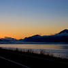 Sunrise Turnagain Arm, Cook Inlet Alaska. Looking toward Portage.