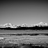 From Left to right, Foraker (17,400'), Mt. Hunter (14,573'), Denali (McKinley) the tallest at 20,320'.