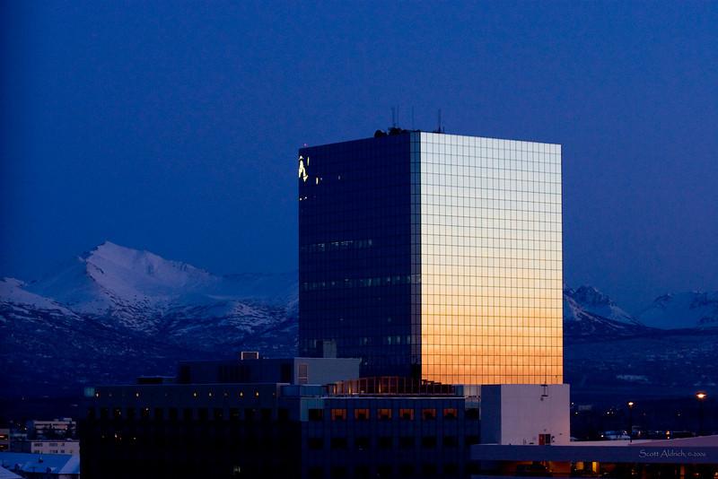 Sunset Anchorage Alaska.