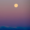 Moon over Mt. Susitna, Alaska.