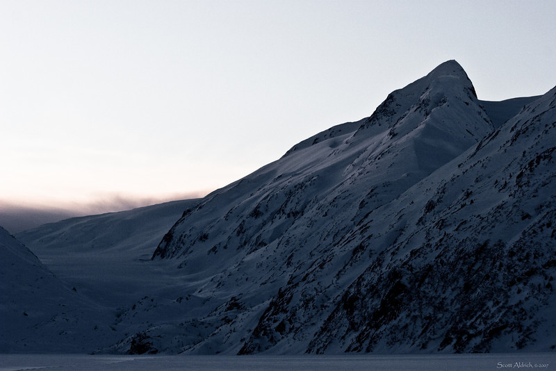 Portage Lake in the winter.