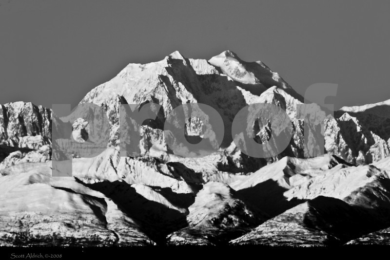 Mount Hunter, Alask which is just south of Denali (Mt. McKinley).