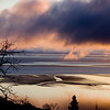 Sunset over mudflats of Cook Inlet, Alaska.