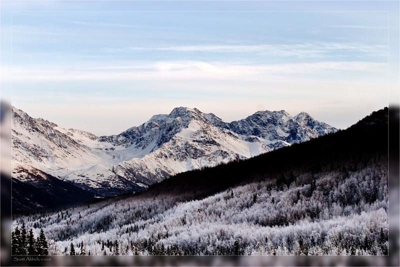 Chugach Mts. Eagle River valley, Alaska.