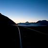 Sunrise Turnagain Arm, Cook Inlet Alaska. Looking toward Portage.