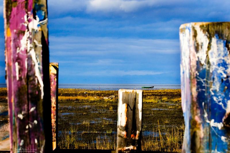 Cook Inlet shoreline, Anchorage, Alaska.