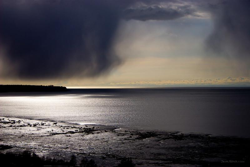 Storm over Fire Island, Anchorage Alaska.