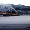 Knik River bridge, Alaska.