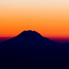 Mt. Rainer, Washington State ~ Sunset. Aerial view.