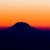 Mt. Rainer, Washington State ~ Sunset. Aerial view.