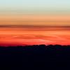 Sunset looking Northwest over Vancouver Island flying Northwest towards Anchorage.