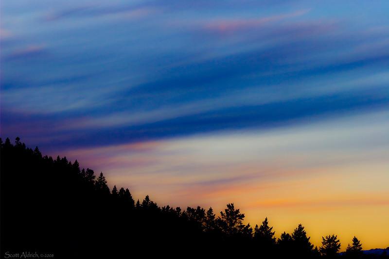 Sunset over Parley's Pass, UT.