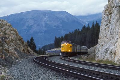 VIA #4 Eastbound from Jasper, Alberta 1988