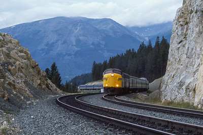 VIA #4 Eastbound from Jasper, Alberta 1988