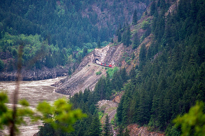 CN westbound in Fraser Canyon, BC  1992