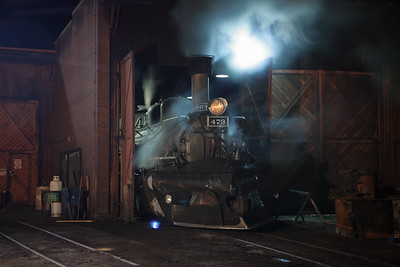 473 backed into the Roundhouse