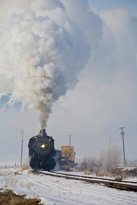 UP #618 under full steam. February 2007