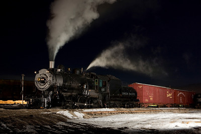 Special Night Photo Session at Heber Valley Railroad February 2007.