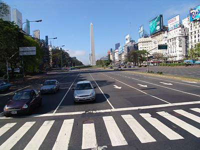 Main drag in Buenos Aires, Argentina.