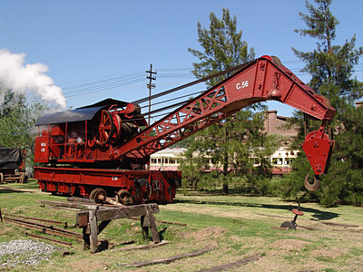 Ferroclub Argentino in Buenos Aires had a wide variety of vintage locomotives and rolling stock. Heavy steam crane.