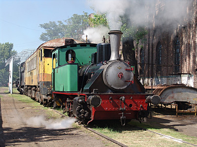 Ferroclub Argentino in Buenos Aires had a wide variety of vintage locomotives and rolling stock. Steam switch engine.