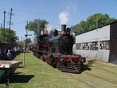 Ferroclub Argentino in Buenos Aires had a wide variety of vintage locomotives and rolling stock. Broadgauge steam locomotive.