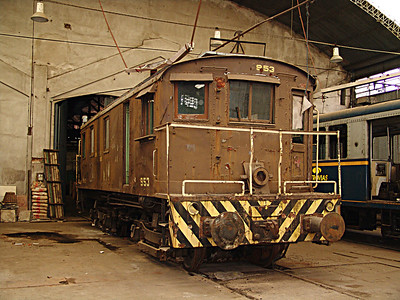 Ferroclub Argentino in Buenos Aires had a wide variety of vintage locomotives and rolling stock. An electiclocomotive.