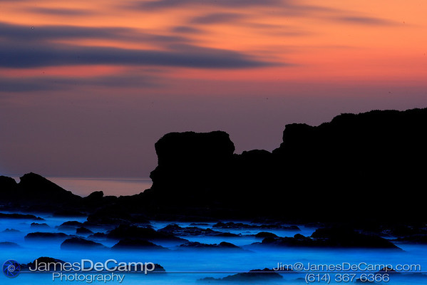 Sunset rocks - Pescadero, CA - Misc. California coastline photos (© James D. DeCamp | http://www.JamesDeCamp.com | 614-367-6366)