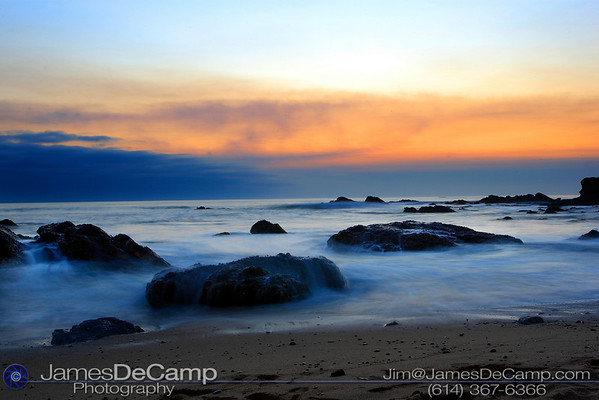 Sunset beach - Pescadero, CA - Misc. California coastline photos (© James D. DeCamp | http://www.JamesDeCamp.com | 614-367-6366)