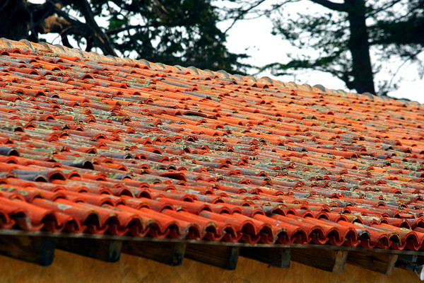 Terra Cotta roof in Carmel by the Sea (© James D. DeCamp | http://www.JamesDeCamp.com | 614-367-6366)
